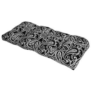 Sassafras Black Outdoor Settee Cushion