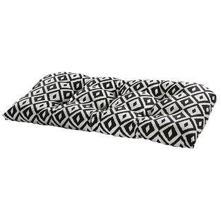 Aztec Black Outdoor Settee Cushion