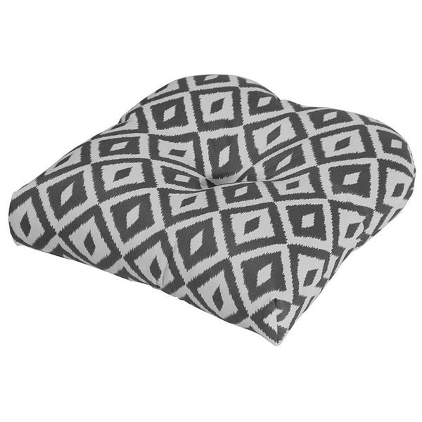 Shop Aztec Charcoal Outdoor Chair Cushion Free Shipping On Orders