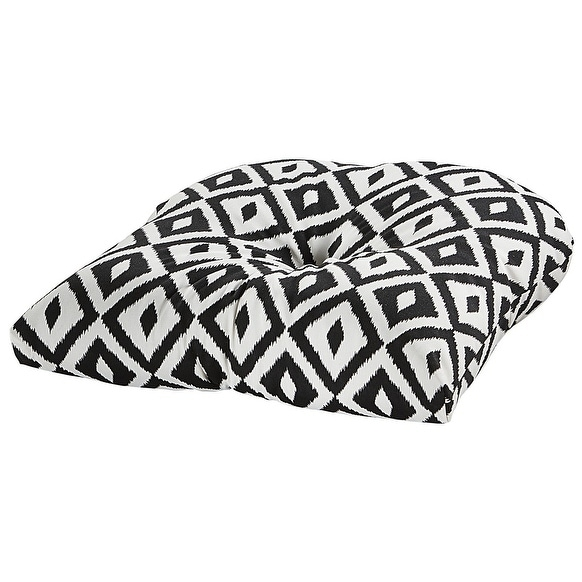 Shop Aztec Black Outdoor Chair Cushion Free Shipping On Orders