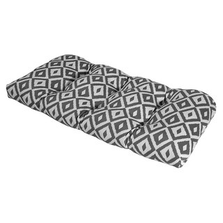 Aztec Charcoal Outdoor Settee Cushion