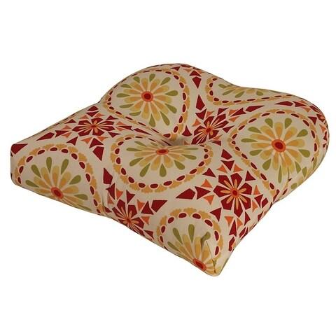 Sicily Mosaic Chili Pepper Outdoor Chair Cushion