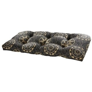 Whirlwind Black Outdoor Settee Cushion