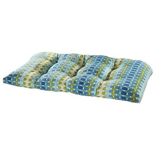 Tetris Ocean Outdoor Settee Cushion
