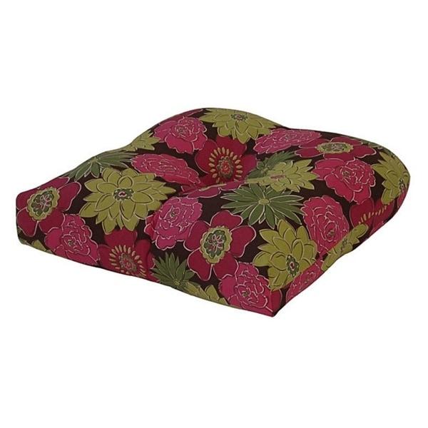 Spring Splendor Raspberry Outdoor Chair Cushion