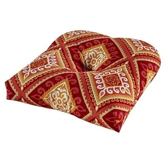Spanish Tile Coral Outdoor Chair Cushion