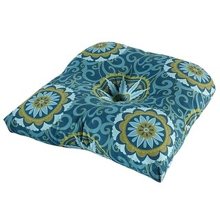 Whirlwind Peacock Outdoor Chair Cushion