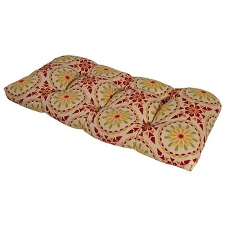 Sicily Mosaic Chili Pepper Outdoor Settee Cushion