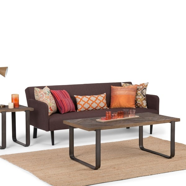 Industrial Wood Coffee Table Distressed Designs: Shop WYNDENHALL Paisley Modern Industrial Solid Distressed