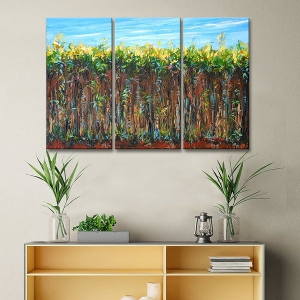 Cane Field' 3-Pc Agriculture Canvas Wall Art Set by Sarah LaPierre
