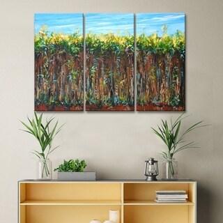 Ready2HangArt 'Cane Field' by Sarah LaPierre Canvas Wall Decor Set - Brown