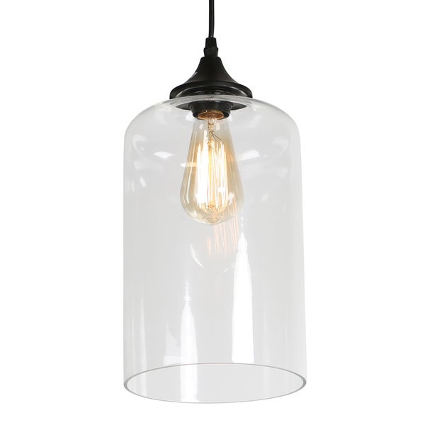 Journee Home \'Leggero\' 12 in Hard Wired Glass Pendant Light With ...