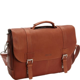 Kenneth Cole Reaction Colombian Leather Flapover 15.6-inch Laptop Briefcase (2 options available)