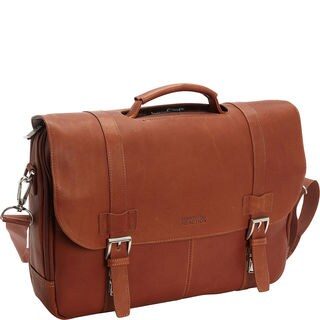 Kenneth Cole Reaction Colombian Leather Flapover 15.6-inch Laptop Briefcase
