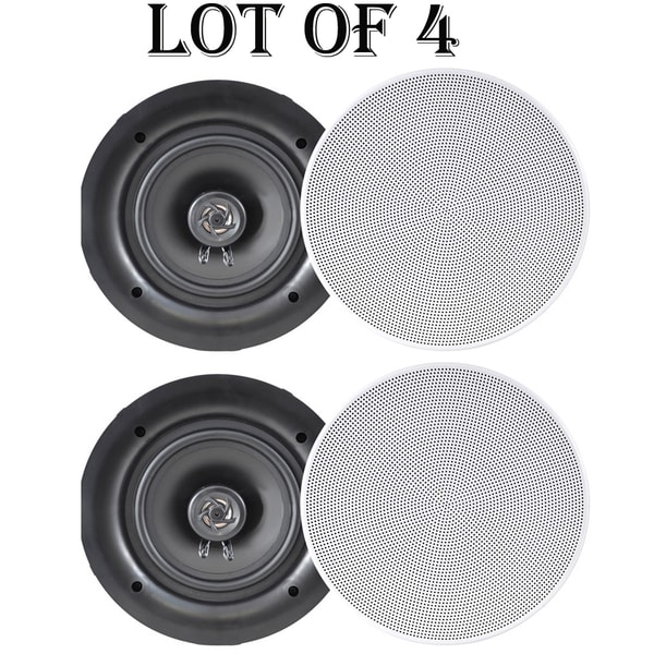"""Shop Pyle PDIC66 6.5"""" In-Wall / In-Ceiling Dual Stereo"""