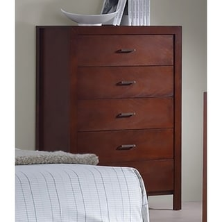 Best Quality Furniture Cherry 5-drawer Traditional Chest