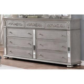 Silver Orchid Beaudet 2-piece Glam Grey Dresser and Mirror Set