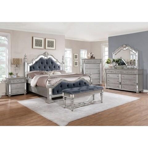 Silver Orchid Olivia Glam Grey 4-piece Bedroom Set