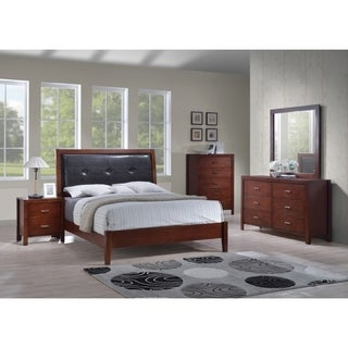 Best Quality Furniture Traditional Cherry 4-piece Bedroom Set