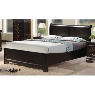 Best Quality Furniture Traditional Cappuccino Panel Bed