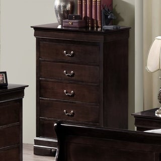 Best Quality Furniture Traditional Cappuccino 5-drawer Chest