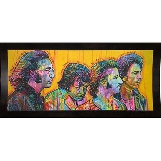 "Beatles Pano Framed Print 3.25""x7.5"" by Dean Russo"