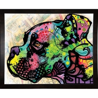 "Profile Boxer Deco Framed Print 8""x10"" by Dean Russo (Option: Clear)"
