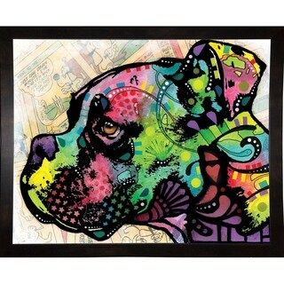 "Profile Boxer Deco Framed Print 8""x10"" by Dean Russo"