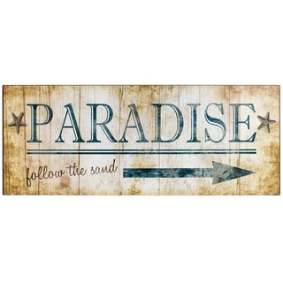 "Vintage ""Paradise"" Sign Wall Décor"
