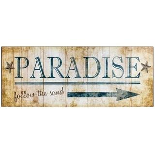 "Vintage ""Paradise"" Sign Wall Décor"