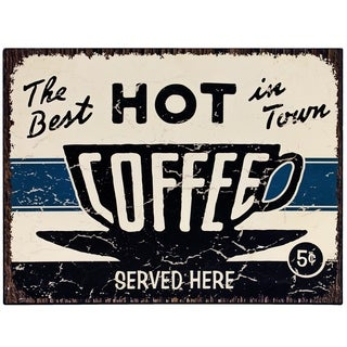 "Vintage ""Hot Coffee"" Sign Wall Décor"