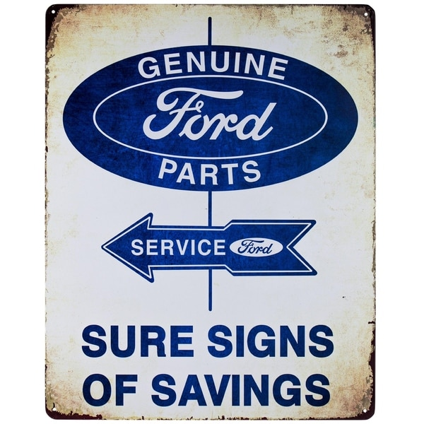 Shop Vintage Ford Metal Sign Wall Décor - Free Shipping On