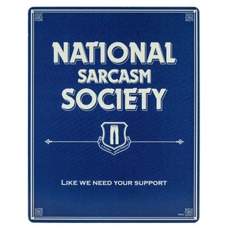 """Sarcasm Society"" Metal Sign Wall Décor"