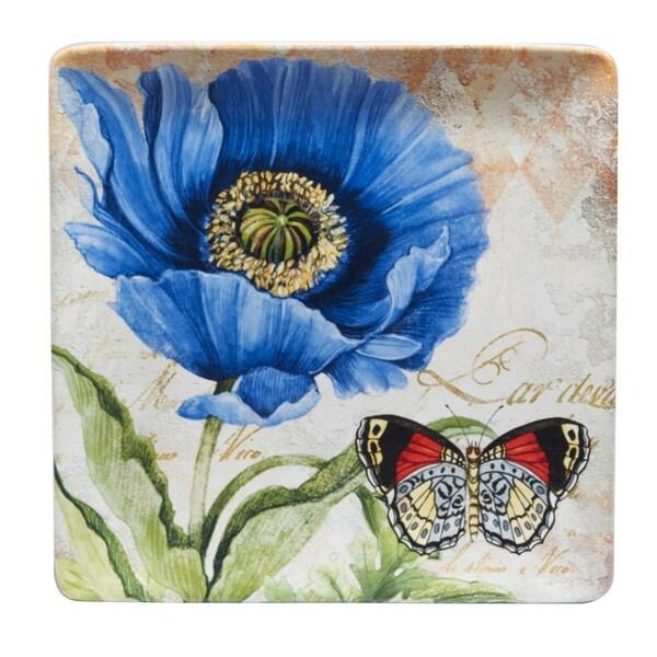 Certified International Poppy Garden 12.5 inch Square Platter