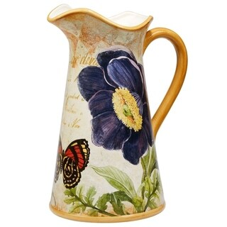 Certified International Poppy Garden Pitcher 2.5 Quart