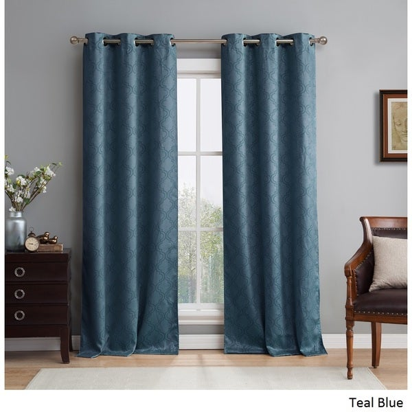 Me Lattice Thermal Blackout Grommet Curtain Panel Pair