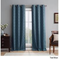 HLC.ME Lattice Thermal Blackout Grommet Curtain Panel Pair