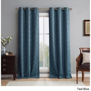 HLC.ME Lattice Thermal Blackout Grommet Curtain Panel Pair (More options available)