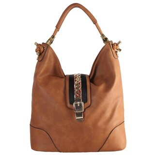 Diophy Double Handle with Metal Decoration Large Hobo