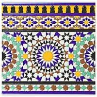 SomerTile 7.875x7.875-inch Hispalence Andalusia Cenefa Ceramic Wall Border Tile (25 tiles/11.46 sqft.)