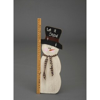 Primitive Rustic Christmas Decoration - Wooden Measuring Snowman