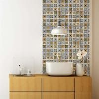 SomerTile 11.75x11.75-inch Technika Der Farbe Ceramic Wall Tile (10 tiles/10 sqft.)