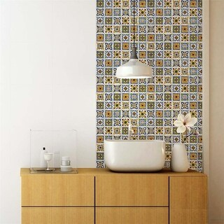 SomerTile 11.75x11.75-inch Technika Der Farbe Ceramic Wall Tile (10/Case, 10 sqft.)