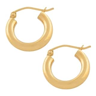 Fremada 14k Yellow Gold 3 millimeter Small Hoop Earrings|https://ak1.ostkcdn.com/images/products/18018439/P24187313.jpg?impolicy=medium