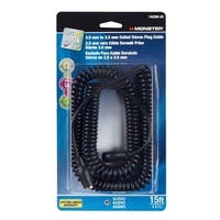 Monster  Just Hook It Up  15 ft. L Stereo Plug Cable