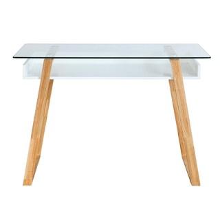 Poly and Bark Segovia Glass Top Desk
