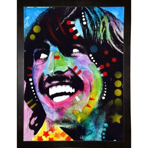 """George Harrison Framed Print 5""""x3.75"""" by Dean Russo"""