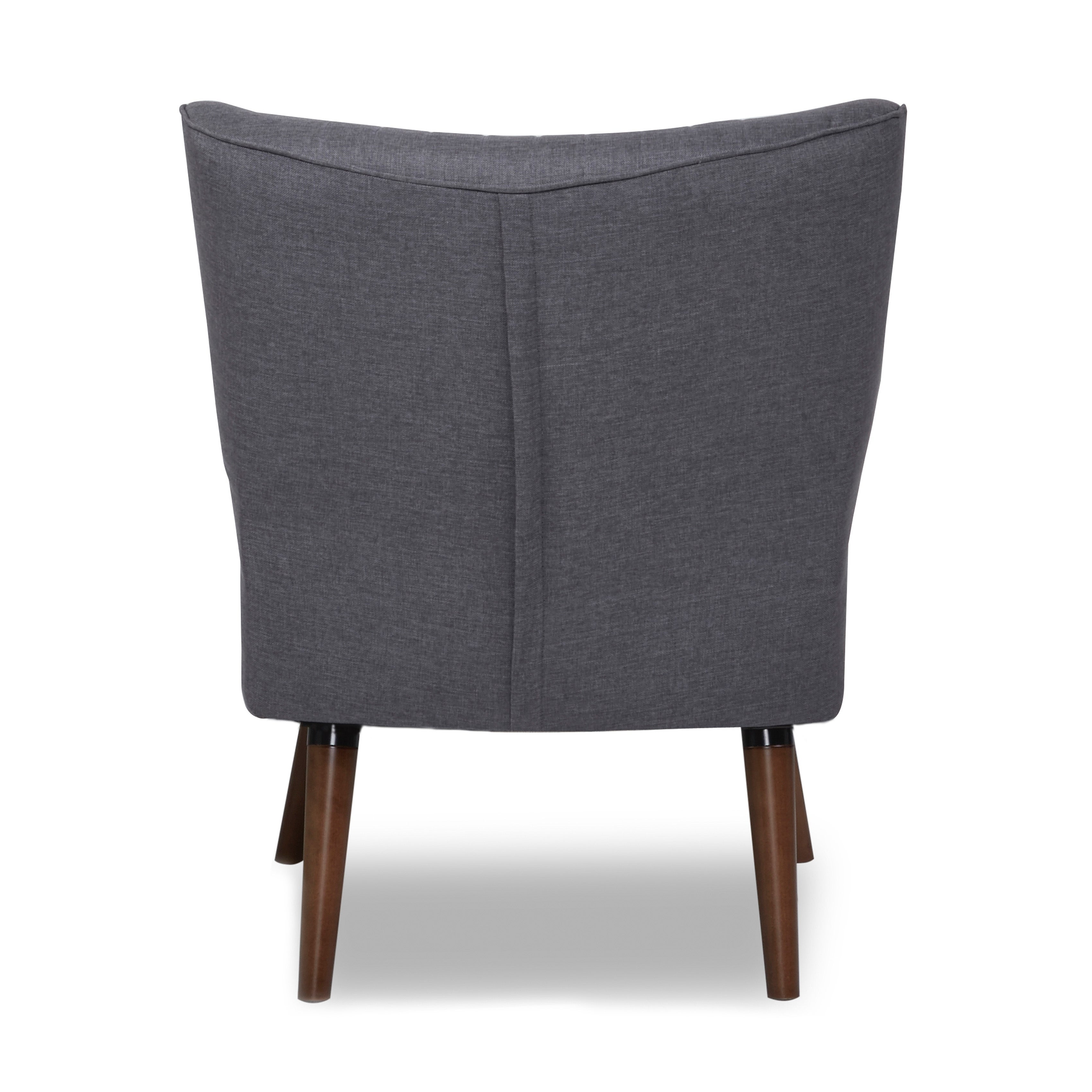 Details about Salem Dark Gray Accent Chair  sc 1 st  eBay & Salem Dark Gray Accent Chair 811430024265   eBay