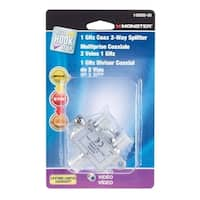Monster Cable  2 Way Coax Splitter
