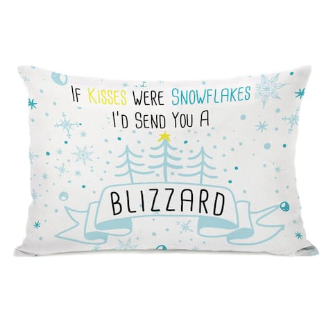 Blizzard Kisses - Multi 14x20 Throw Pillow by OBC